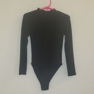 Zara girls black bodysuit